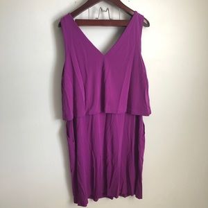 Ralph Lauren Dresses - NWT Lauren Ralph Lauren Tiered Purple Jersey Dress